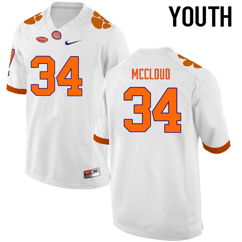 Youth Clemson Tigers #34 Ray-Ray McCloud College Football Jerseys-White