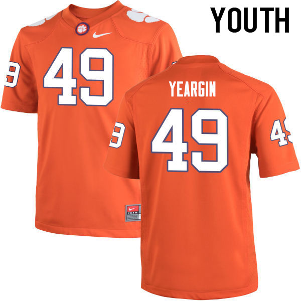 Youth Clemson Tigers #49 Richard Yeargin College Football Jerseys-Orange