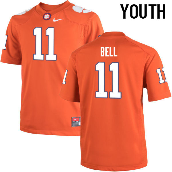 Youth Clemson Tigers #11 Shadell Bell College Football Jerseys-Orange