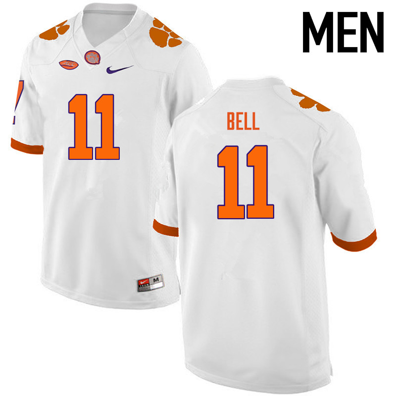 Men Clemson Tigers #11 Shadell Bell College Football Jerseys-White