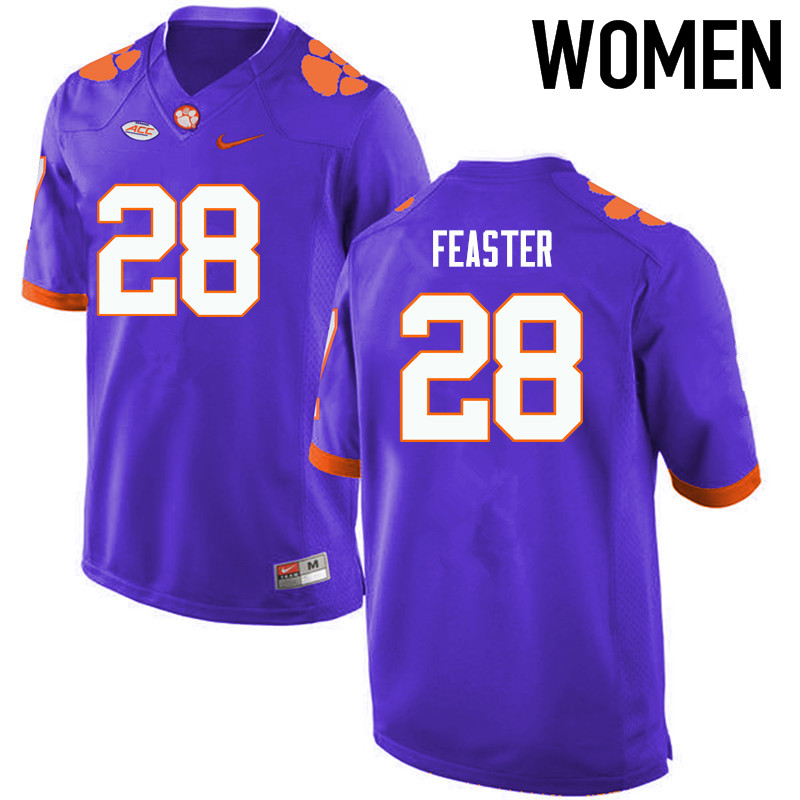 Women Clemson Tigers #28 Tavien Feaster College Football Jerseys-Purple