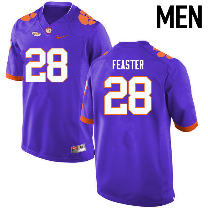 Men Clemson Tigers #28 Tavien Feaster College Football Jerseys-Purple