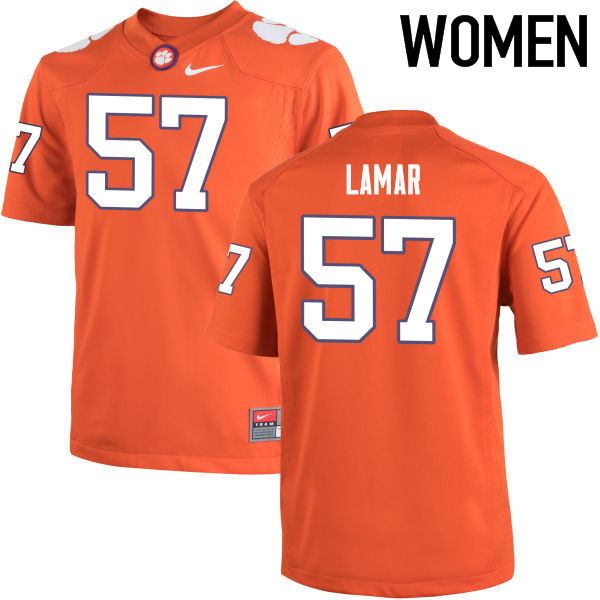 Women Clemson Tigers #57 Tre Lamar College Football Jerseys-Orange