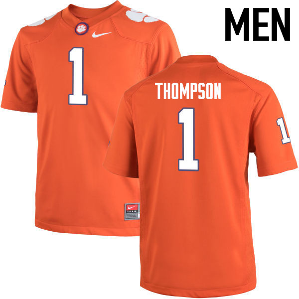 Men Clemson Tigers #1 Trevion Thompson College Football Jerseys-Orange