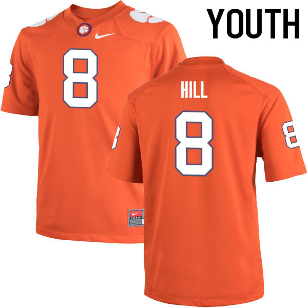 Youth Clemson Tigers #8 Tye Hill College Football Jerseys-Orange