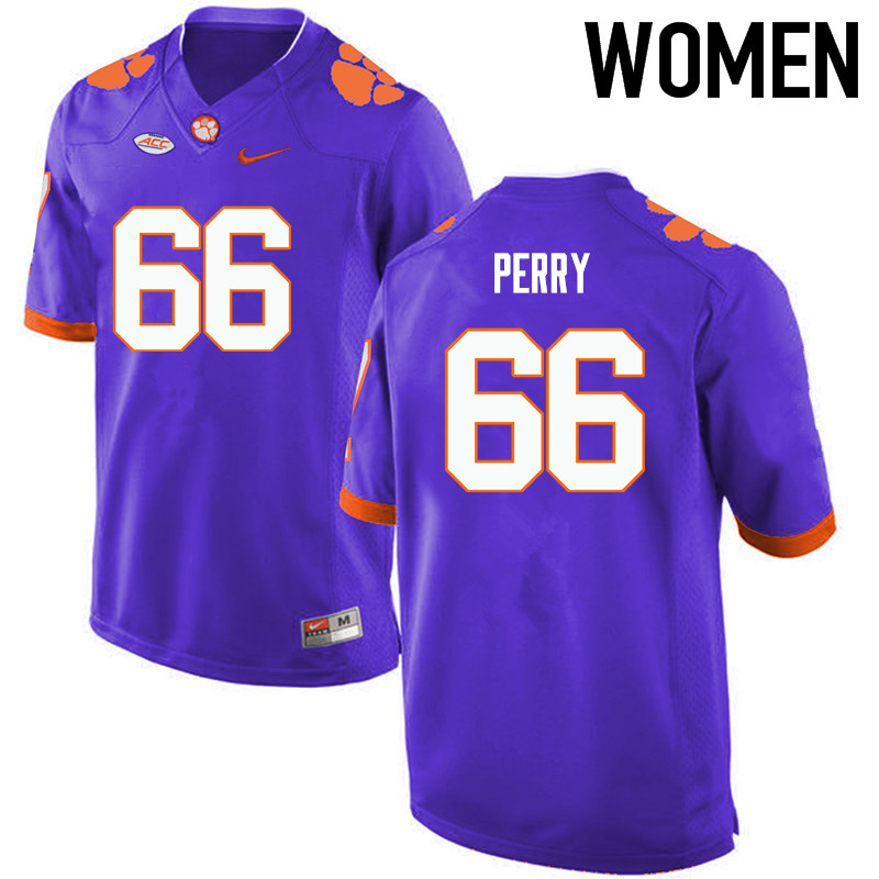 Women Clemson Tigers #66 William Perry College Football Jerseys-Purple