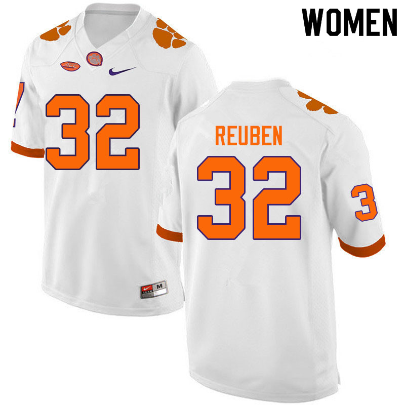 Women #32 Etinosa Reuben Clemson Tigers College Football Jerseys Sale-White