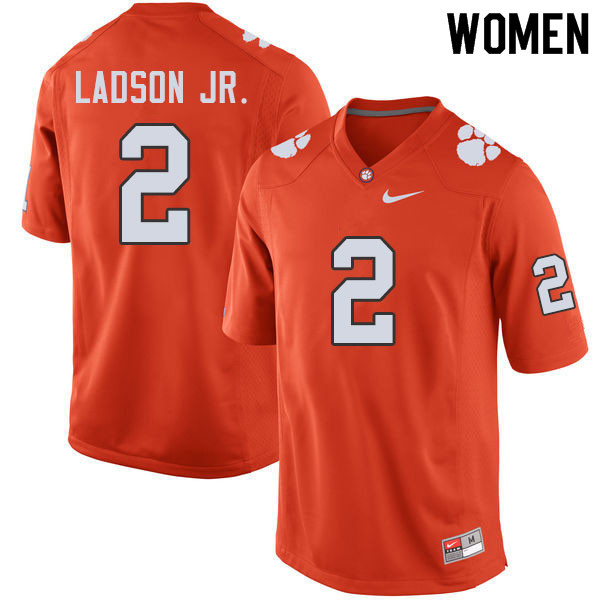 Women #2 Frank Ladson Jr. Clemson Tigers College Football Jerseys Sale-Orange