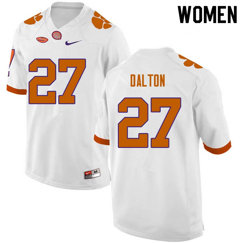 Women #27 Alex Dalton Clemson Tigers College Football Jerseys Sale-White