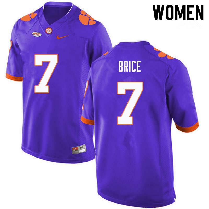 Women #7 Chase Brice Clemson Tigers College Football Jerseys Sale-Purple