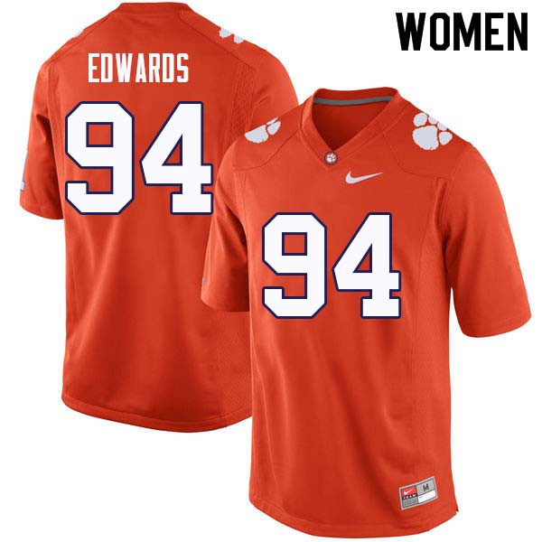 Women #94 Jacob Edwards Clemson Tigers College Football Jerseys Sale-Orange