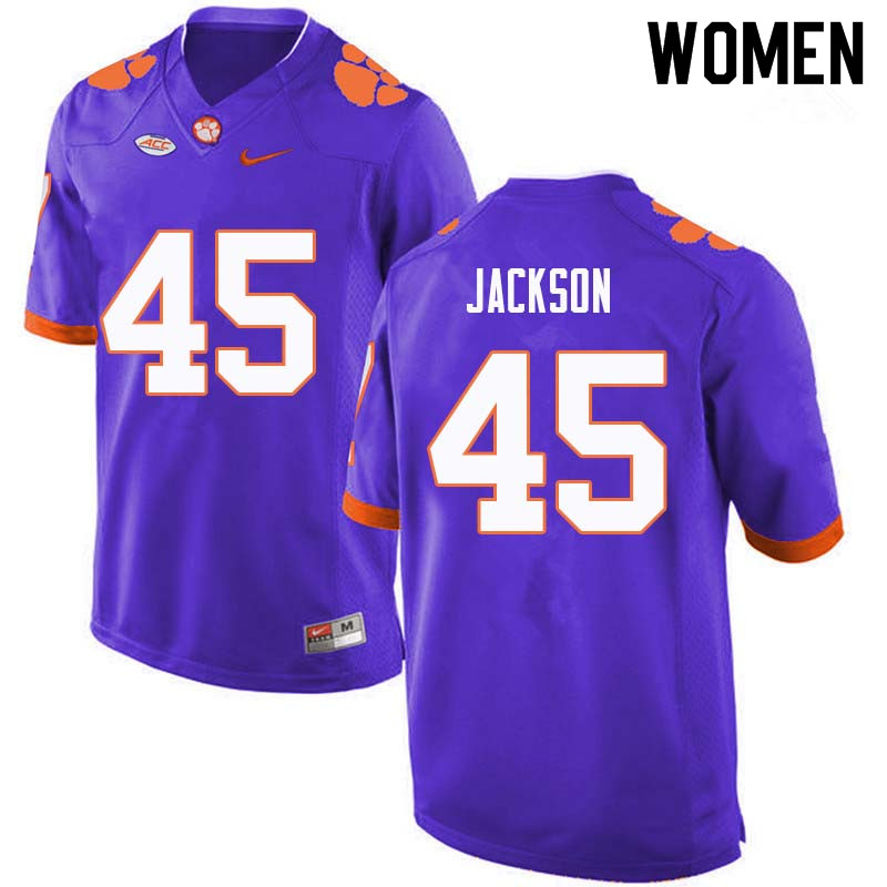 Women #45 Josh Jackson Clemson Tigers College Football Jerseys Sale-Purple