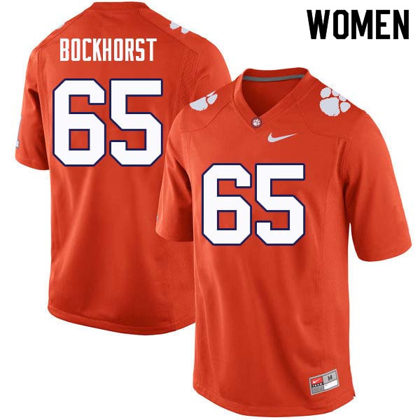 Women #65 Matt Bockhorst Clemson Tigers College Football Jerseys Sale-Orange