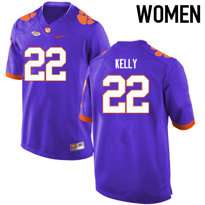 Women Clemson Tigers #22 Xavier Kelly College Football Jerseys-Purple