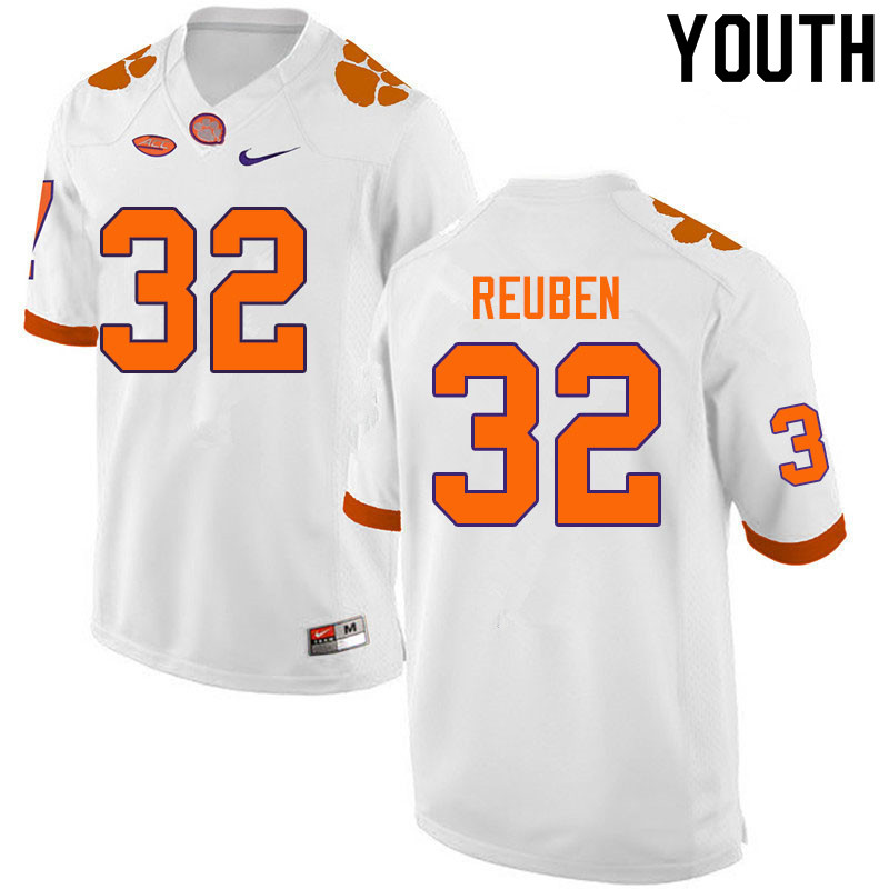 Youth #32 Etinosa Reuben Clemson Tigers College Football Jerseys Sale-White