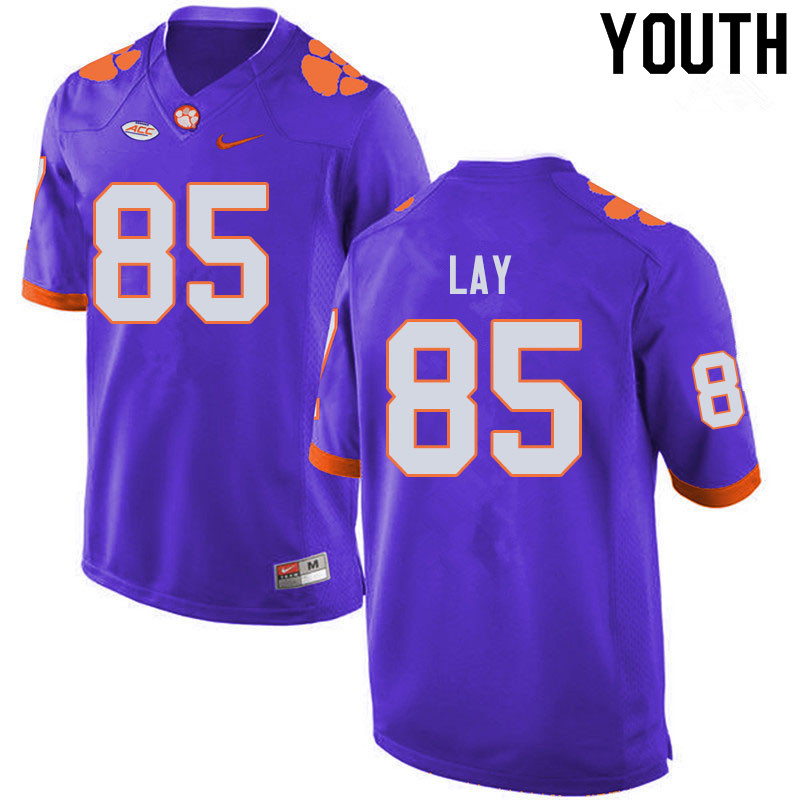 Youth #85 Jaelyn Lay Clemson Tigers College Football Jerseys Sale-Purple