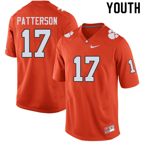 Youth #17 Kane Patterson Clemson Tigers College Football Jerseys Sale-Orange