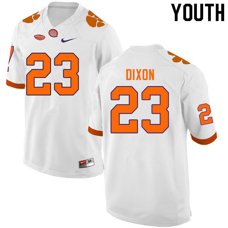 Youth #23 Lyn-J Dixon Clemson Tigers College Football Jerseys Sale-White