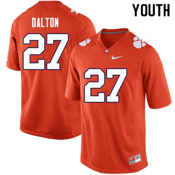 Youth #27 Alex Dalton Clemson Tigers College Football Jerseys Sale-Orange