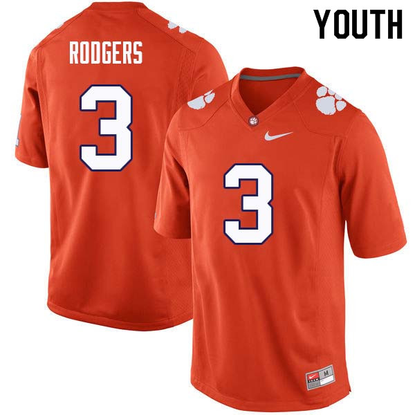 Youth #3 Amari Rodgers Clemson Tigers College Football Jerseys Sale-Orange