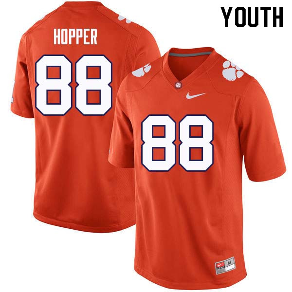 Youth #88 Jayson Hopper Clemson Tigers College Football Jerseys Sale-Orange