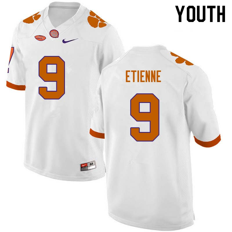 Youth #9 Travis Etienne Clemson Tigers College Football Jerseys Sale-White